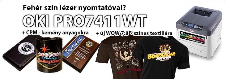 OKI c711WT PRO7411WT fehér színes lézer nyomtató