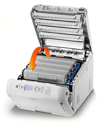 OKI Pro8432WT toner felcserélhetősége