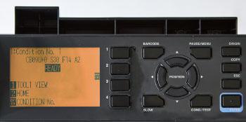 Graphtec CE7000 LCD kijelzője