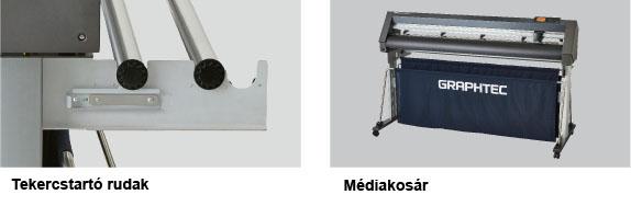 Graphtec CE7000 tekercstartó és médiakosár