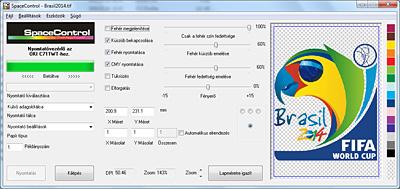 OKI c711WT fehértoner nyomtató vezérlő SpaceControl